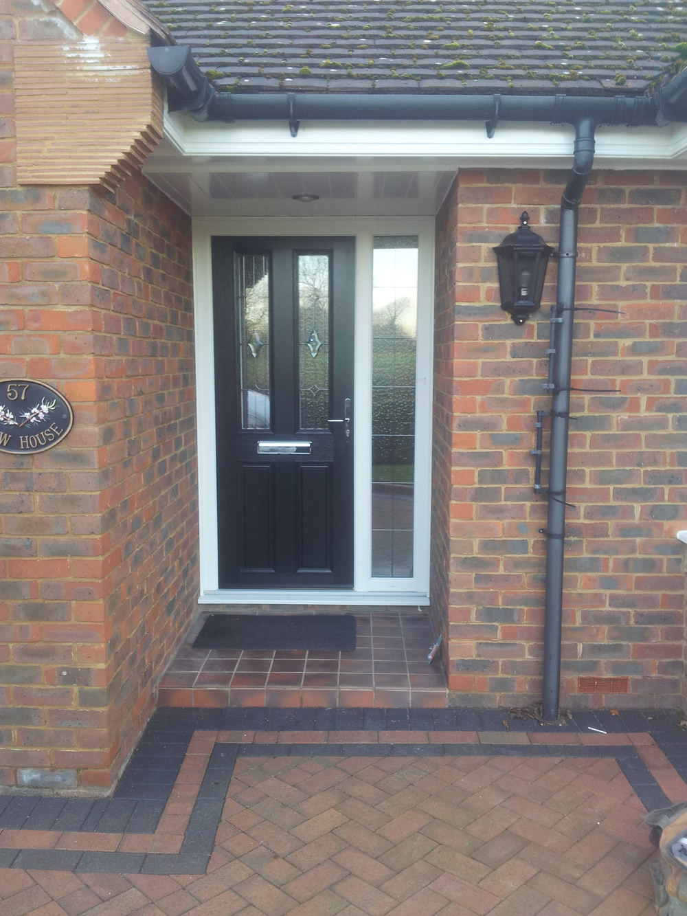 Black Door With Side Light : Composite front doors birmingham solihull west
